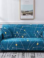 cheap -Blue Constellation Print Dustproof All-powerful Slipcovers Stretch Sofa Cover Super Soft Fabric Couch Cover with One Free Pillow Case