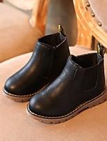 cheap -Girls' Snow Boots PU Boots Little Kids(4-7ys) Black / Brown / Gray Fall / Mid-Calf Boots