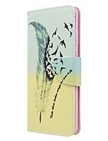 cheap -Case For Samsung Galaxy S10 / Galaxy S10 Plus / Galaxy S10 E Wallet / Card Holder / with Stand Full Body Cases Feathers PU Leather For Galaxy S11/S11E/S11 Plus/Note 10 Plus/A20E/A71/A51