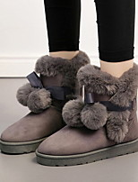 cheap -Women's Boots Flat Heel Round Toe Suede Booties / Ankle Boots Winter Black / Gray / Khaki