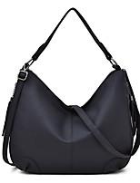 cheap -Women's Zipper Faux Leather / PU Top Handle Bag Solid Color Black / Brown