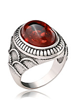 cheap -Couple's Band Ring 1pc Red Alloy Geometric Punk Trendy Daily Jewelry Geometrical Hope Cool