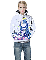 cheap -Kids Boys' Basic Color Block 3D Print Long Sleeve Hoodie & Sweatshirt White