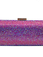cheap -Women's Crystals Alloy Evening Bag Champagne / Silver / Fuchsia
