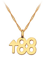 cheap -Men's Pendant Necklace Classic Mini Simple Chrome Gold 60 cm Necklace Jewelry 1pc For Daily