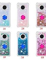 cheap -Case For Huawei Huawei P20 / Huawei P20 lite / Huawei P30 Pro Flowing Liquid / Ring Holder / Pattern Back Cover Solid Colored / Glitter Shine TPU