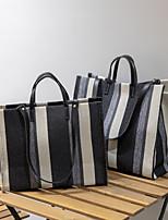 cheap -Women's Canvas Top Handle Bag Solid Color Black / Blue / Khaki