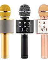 cheap -Micrfono inalmbrico WS 858 condensador profesional karaoke micrfono bluetooth soporte radio estudio de grabacin de microfon WS858