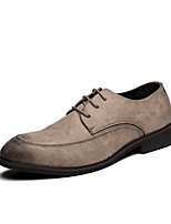 cheap -Men's Formal Shoes PU Spring & Summer / Fall & Winter Casual / British Oxfords Black / Gray / Party & Evening