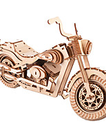 cheap -3D Puzzle Wooden Puzzle Vehicles Simulation Hand-made Wooden 158 pcs Motorcycle Kid's Adults' All Toy Gift
