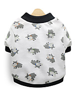 cheap -Dog Shirt / T-Shirt Hoodie Winter Dog Clothes White Costume Cotton Print Cosplay XS S M L