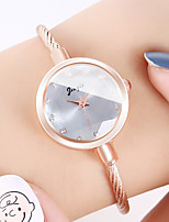cheap -Women's Quartz Watches Casual Fashion Gold Alloy Quartz Blushing Pink Blue Red New Design Casual Watch Adorable Analog