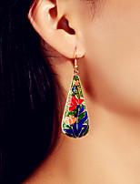 cheap -Women's Drop Earrings Petal Elegant Earrings Jewelry Green For Date Festival