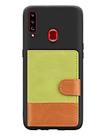cheap -Case For Samsung Galaxy A20s(2019) / A10s(2019) / A70(2019) Card Holder / with Stand / Ultra-thin Back Cover Cowboy Grain PU Leather / TPU Case For Samsung A50/A40/A30/A7(2018)/A6(2018) /A8(2018)