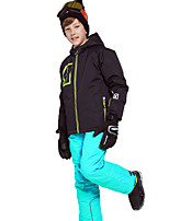 cheap -Phibee Boys' Ski Jacket with Pants Skiing Camping / Hiking Winter Sports Windproof Warm Winter Sports Polyester Warm Top Warm Pants Clothing Suit Ski Wear