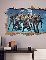 cheap -FORTNITE Decorative Wall Stickers - Plane Wall Stickers / Blackboard Wall Stickers Shapes Bedroom / Study Room / Office