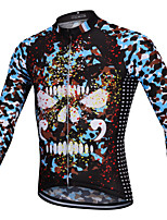 cheap -YORK TIGERS Men's Long Sleeve Cycling Jersey Winter Silicone Elastane Terylene Camouflage Camo / Camouflage Bike Jersey Top Mountain Bike MTB Road Bike Cycling Thermal / Warm Breathable Quick Dry