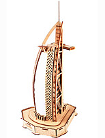 cheap -3D Puzzle Wooden Puzzle Burj Al Arab Simulation Hand-made Wooden 85 pcs Kid's Adults' All Toy Gift
