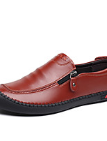 cheap -Men's Leather Shoes Leather / Cowhide Spring & Summer / Fall & Winter Business / Casual Loafers & Slip-Ons Breathable Black / Brown / Blue