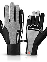 cheap -Winter Bike Gloves / Cycling Gloves Windproof Warm Wearable Stretchy Full Finger Gloves Sports Gloves Fleece Black Grey for Adults Cycling / Bike Activity & Sports Gloves