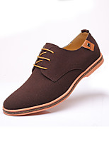 cheap -Men's Formal Shoes Leather / Suede Spring & Summer / Fall & Winter Business / Casual Oxfords Breathable Black / Brown / Camel