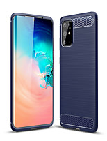 cheap -Case For Samsung Galaxy Galaxy S10 / Galaxy S10 Plus / Galaxy S10 5G Embossed Back Cover Solid Colored TPU