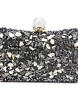 cheap -Women's Chain PU Evening Bag Color Block Black / Gold / Silver