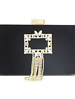 cheap -Women's Chain Corduroy Evening Bag Solid Color Black / Gold / Red