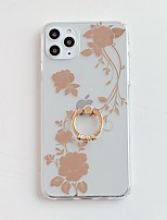 cheap -Case For Apple iPhone 11 / iPhone 11 Pro / iPhone 11 Pro Max Plating / Ring Holder / IMD Back Cover Flower TPU