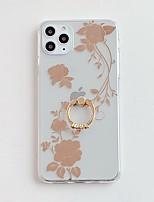 abordables -Coque Pour Apple iPhone 11 / iPhone 11 Pro / iPhone 11 Pro Max Plaqué / Anneau de Maintien / IMD Coque Fleur TPU