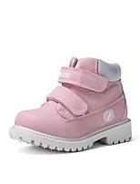 cheap -Girls' Combat Boots Synthetics Boots Little Kids(4-7ys) Camel / Pink / Dark Blue Fall / Mid-Calf Boots