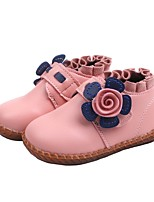cheap -Girls' First Walkers PU Boots Toddler(9m-4ys) Black / Red / Pink Fall / Booties / Ankle Boots
