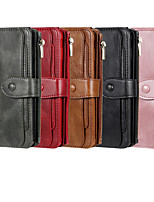 cheap -Case For Apple iPhone 11 / iPhone 11 Pro / iPhone 11 Pro Max Wallet / Card Holder / with Stand Full Body Cases Solid Colored PU Leath for iPhone 6  6 Plus  6s 6s plus 7 8 7 plus 8 plus X XS XR XS MAX