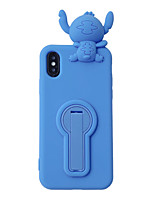 cheap -Case For Apple iPhone 11 / iPhone 11 Pro / iPhone 11 Pro Max /6/6p/7/8/7p/8p/x/xr/xsmax Shockproof / Dustproof / with Stand Back Cover 3D Cartoon Silica Gel