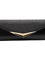 cheap -Women's Glitter / Zipper PU Evening Bag Solid Color Black / Gold / Silver