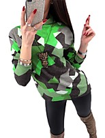 cheap -Women's Daily Street chic T-shirt - Color Block Patchwork / Print Yellow
