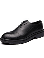 cheap -Men's Formal Shoes PU Spring & Summer / Fall & Winter Business / British Oxfords Walking Shoes Non-slipping Black / Wedding