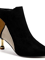 cheap -Women's Boots Stiletto Heel Round Toe PU Booties / Ankle Boots Winter Brown / Green