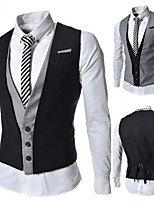 cheap -James Bond Gentleman Vintage Double Breasted Waistcoat Men's Slim Fit Costume Black / Gray Vintage Cosplay Party Halloween / Vest