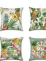 cheap -1pcs Tropical Plant Pineapple Pillowcase Summer Green Leaves 45 * 45