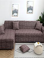 Недорогие -коричневый лабиринт пыленепроницаемый всесильный чехлы для стрейч l-образный чехол для дивана супер мягкий тканевый чехол для дивана с одной бесплатной наволочкой