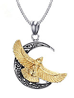 cheap -Men's Pendant Necklace Geometrical Eagle Fashion Titanium Steel Silver 50 cm Necklace Jewelry 1pc For Gift Daily