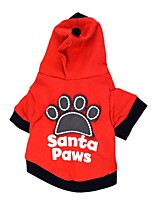 cheap -Dog Hoodie Winter Dog Clothes Black Red Costume Cotton Patchwork Cosplay XS S M L
