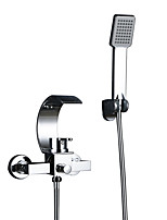 cheap -Bathtub Faucet - Contemporary Chrome Ceramic Valve Bath Shower Mixer Taps