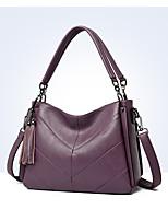 cheap -Women's Tassel PU Top Handle Bag Black / Wine / Purple