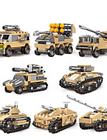 cheap -Building Blocks Military Blocks Vehicle Playset 800+ Military compatible Legoing Simulation Military Vehicle All Toy Gift / Kid's / Educational Toy