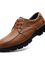 cheap -Men's Formal Shoes Leather Fall & Winter Casual Oxfords Walking Shoes Breathable Black / Brown