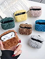 cheap -Case for Apple scene map AirPods Pro solid color simple pattern PVC material fiber plush leather Bluetooth headset protection