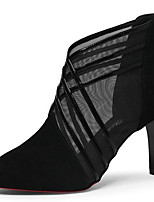 cheap -Women's Boots Stiletto Heel Pointed Toe Mesh Booties / Ankle Boots Winter Black / Gray