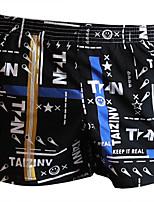 cheap -Men's Print Boxers Underwear - Normal Mid Waist Black White Blue M L XL